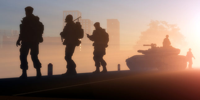 Silhouette Soldaten