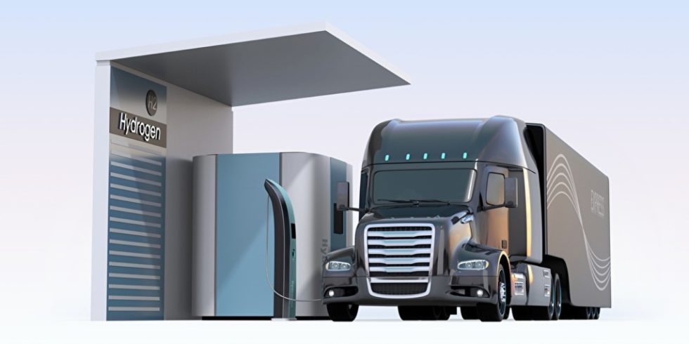 In der neuen Kooperation H2Accelerate wollen Lkw-Hersteller und Mineralölkonzerne  künftig zusammenarbeiten und so die Voraussetzungen für die Einführung von Wasserstoff-Lkw auf dem europäischen Massenmarkt schaffen. Foto: panthermedia.net/chesky_w
