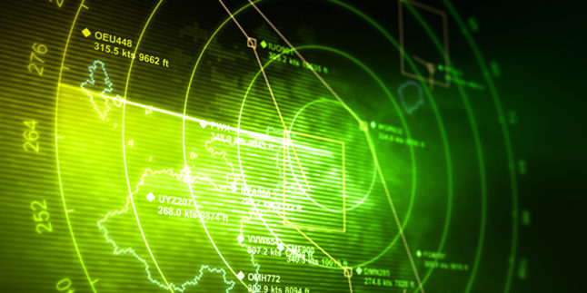 Radar in grün
