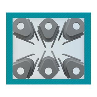 Die platzsparende Geometrie der neuen Stützenschuhe ermöglicht bis zu 24% schlankere Stützenquerschnitte. Foto:Peikko