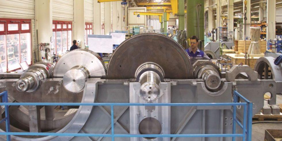 Integralgetriebe mit Zwischenwelle: Die Voith Group erzielt mit einer modernen Software hochwertige Planungsergebnisse, mit denen nachvollziehbare Produktionsentscheidungen begründet werden können. Foto: HSi /Voith