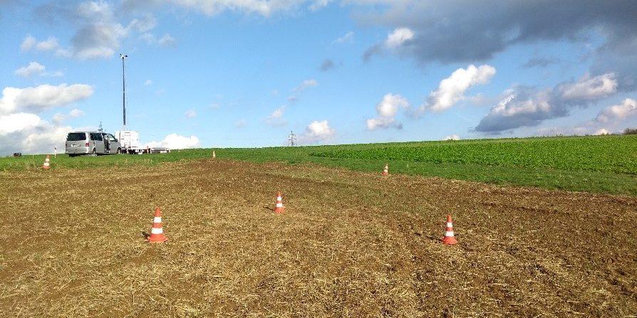 Versuchsfelder sind wichtig, um neue Agrartechnologien zu erproben. Fraunhofer-Forscher zeigen, wie sich Testflächen besser schützen lassen.  Foto: Fraunhofer FKIE