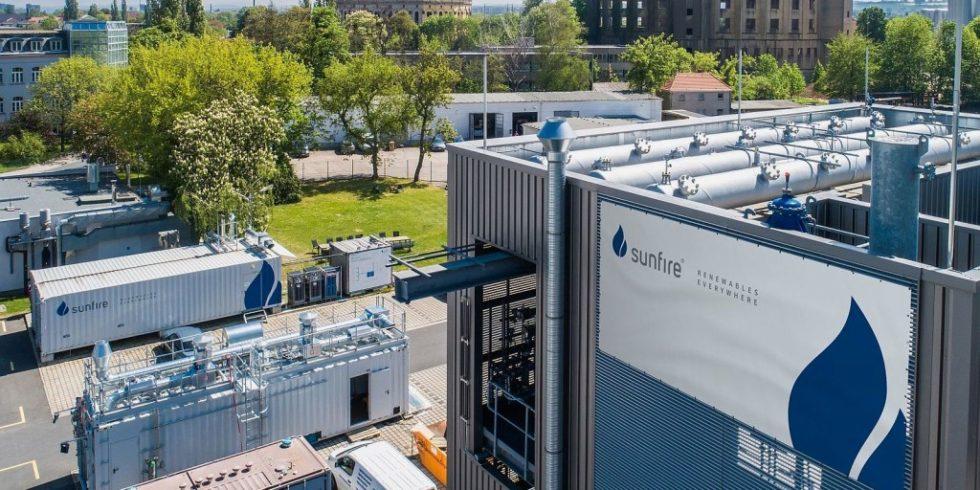 Firmensitz der Sunfire GmbH in Dresden. Sie liefert Elektroyseure für Wasserstoffprojekte in Spanien. Bild: Sunfire