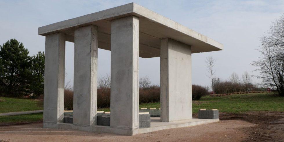 Der neue Pavillon in Pirmasens besteht zu großen Teilen aus R-Beton. Foto: SySpro-Gruppe Betonbauteile e.V.; Beton-Betz GmbH