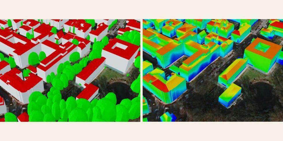 Fassaden bieten Potenzial zur Solarenenergiegewinnung. Dazu muss das Potenzial kleinräumig analysiert werden. Foto: Behnisch et al./IÖR