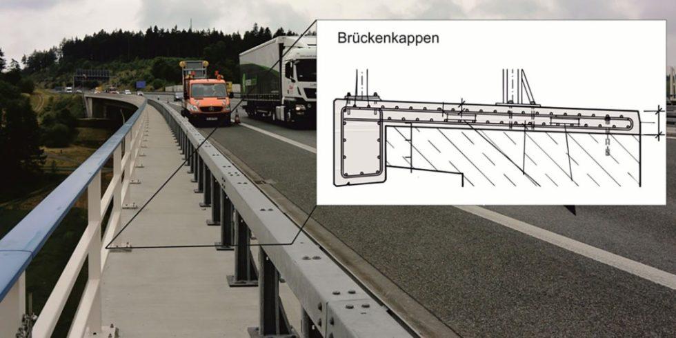 Die Brückenkappe, wie hier an einer Autobahn, sind hohen Belastungen ausgesetzt. Foto: Christoph Dauberschmidt