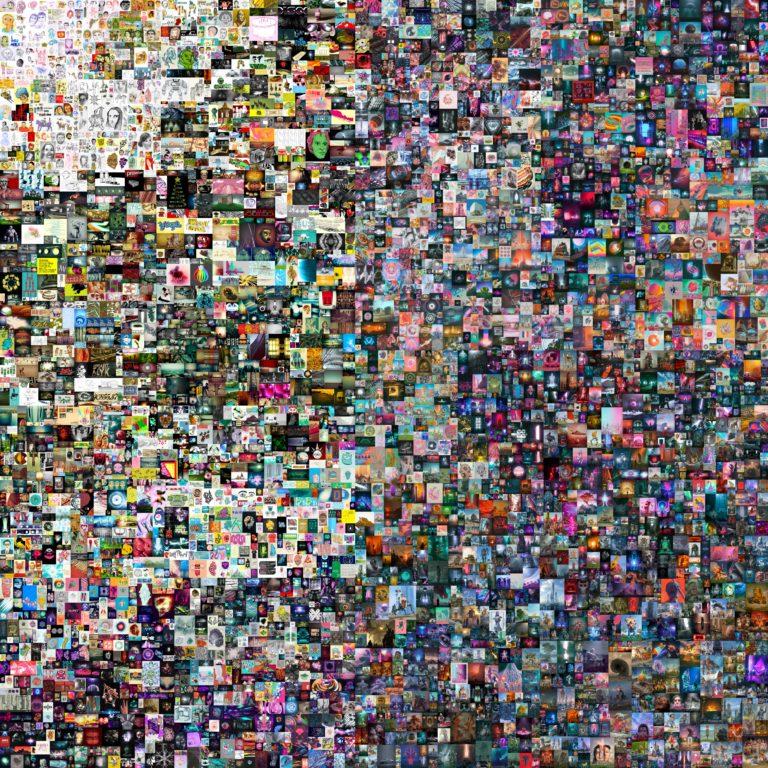 Mehr als 69 Millionen Dollar zahlte ein Käufer für dieses digitale Bild: Es war die erste NFT-Auktion bei Christie`s. Foto: Christie´s/Beeple