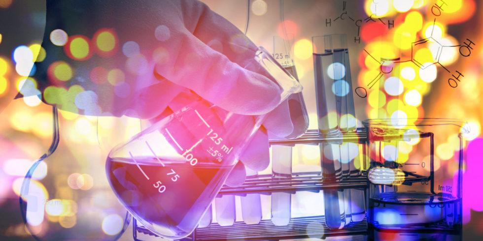 Chemielabor Röhrchen