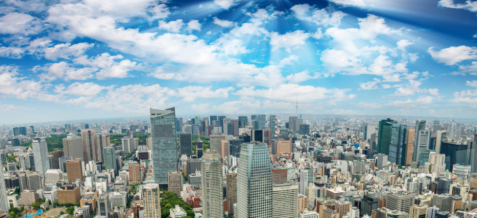 Luftbildaufnahme Tokio