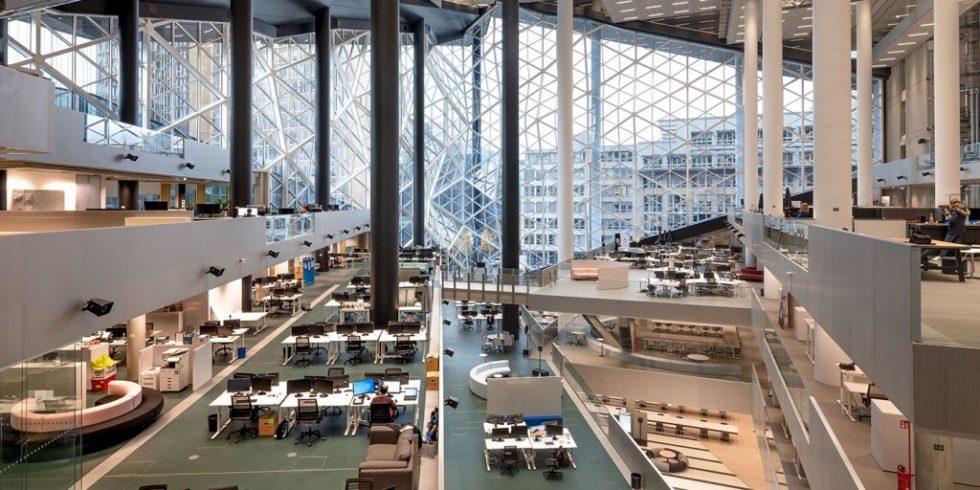 Die Baubranche steht vor vielen Aufgaben und muss die Chancen ergreifen, wie bei Axel Springer-Neubau. Foto: pierer.net