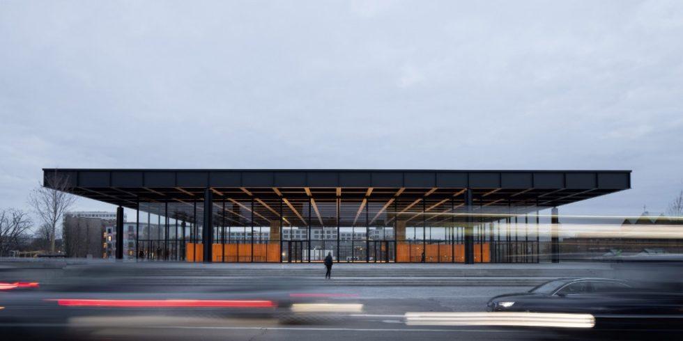 Die Neue Nationalgalerie ind Berlin wurde denkmalgerecht saniert. Foto: BBR / Thomas Bruns / Ludwig Mies van der Rohe