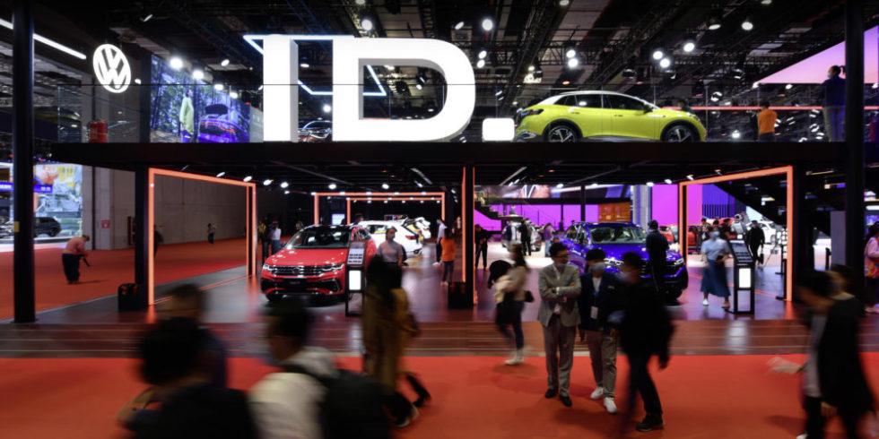 Auto Shanghai Messestand Volkswagen