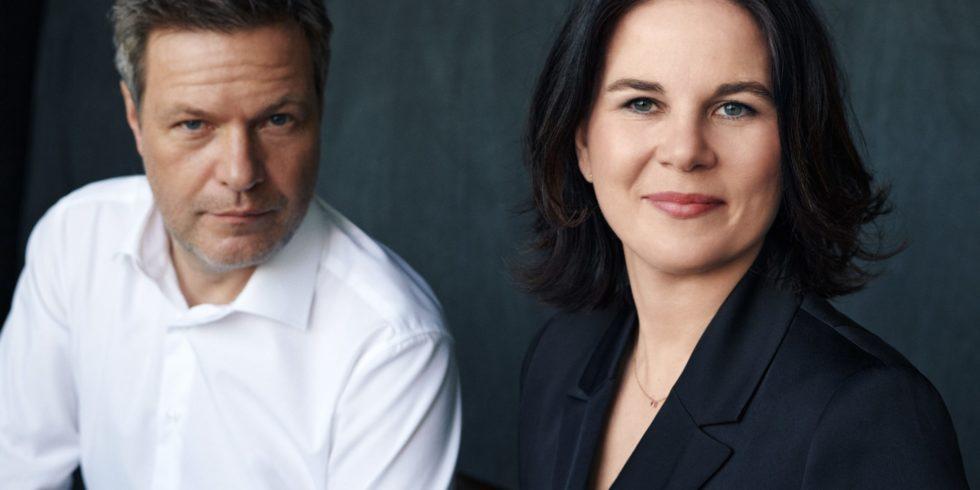 Grünen-Kanzlerkandidatin Annalena Baerbock und Grünen-Co-Chef Robert Habeck im Wahlkampfmodus vor der Bundestagswahl 2021. Foto: Bündnis 90/Die Grünen
