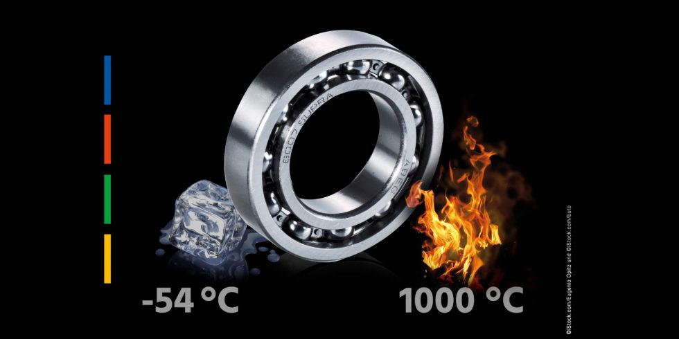 Hochtemperaturlager von Findling bewähren sich in industriellen Anwendungen bis 1.000 °C. Bild: Findling Wälzlager