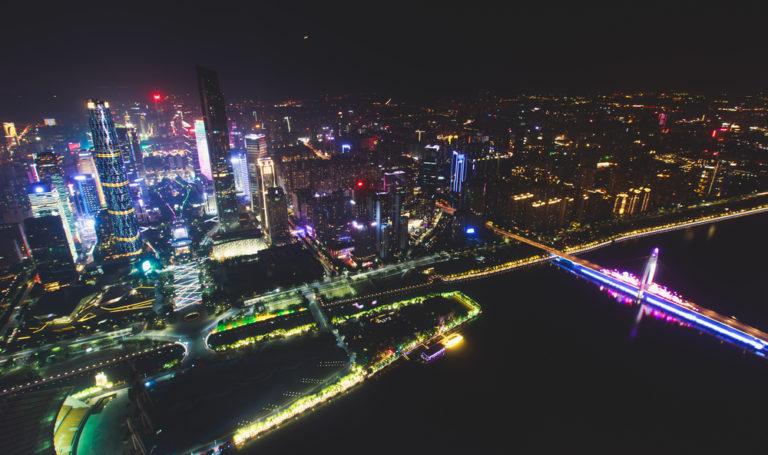 Nachtaufnahme von Guangzhou