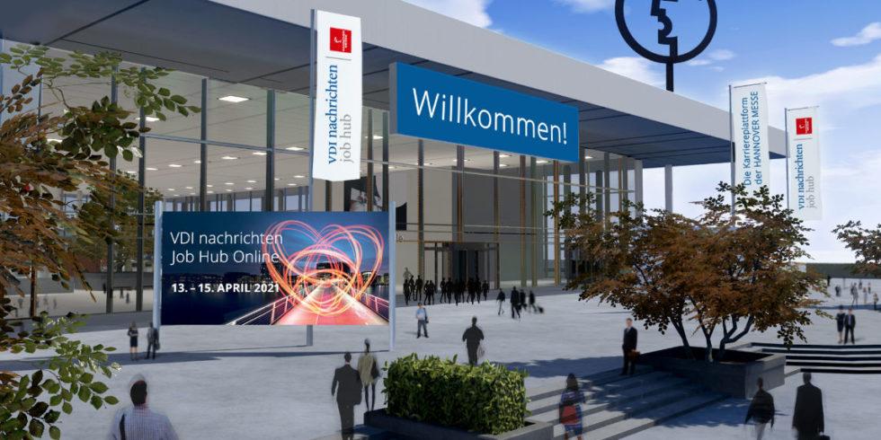 Der VDI nachrichten Job Hub online: Das Drehkreuz für Ihre Karriere auf der Hannover Messe 2021.
