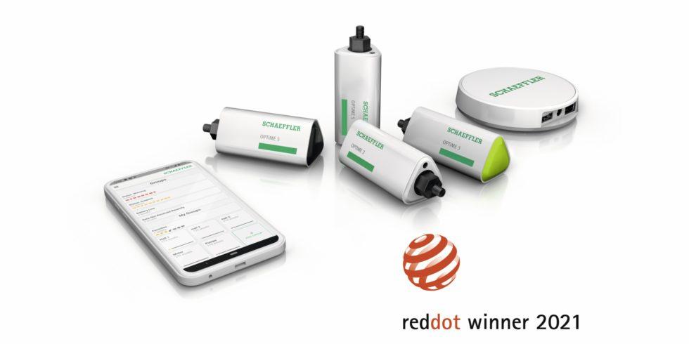"""Die Condition-Monitoring-Lösung Optime von Schaeffler ist Gewinner des diesjährigen Red Dot Design Award, sowohl in der Kategorie """"Smart Product"""" als auch """"Industrial Design. Bild: Schaeffler"""