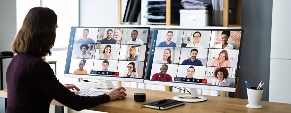 Bei Videokonferenzen mit vielen Personen kann man schnell den Überblick verlieren. Tools wie Wonder oder Gathertown schließen eine Lücke. Foto: panthermedia.net/AndreyPopov