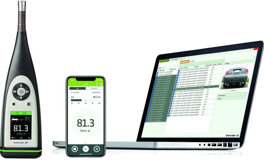 Die Komplettlösung von HBK umfasst Schallpegelmesser, mobile App sowie Desktop App. Foto: Hottinger Brüel & Kjaer GmbH