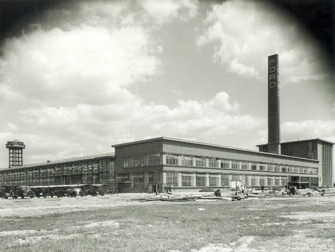 Die Ford-Werke in Köln-Niehl im Jahr 1931. Foto: Ford
