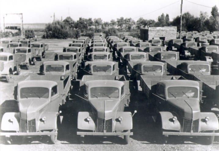 Ford-Lastwagen in Köln, um 1940. Foto: Ford