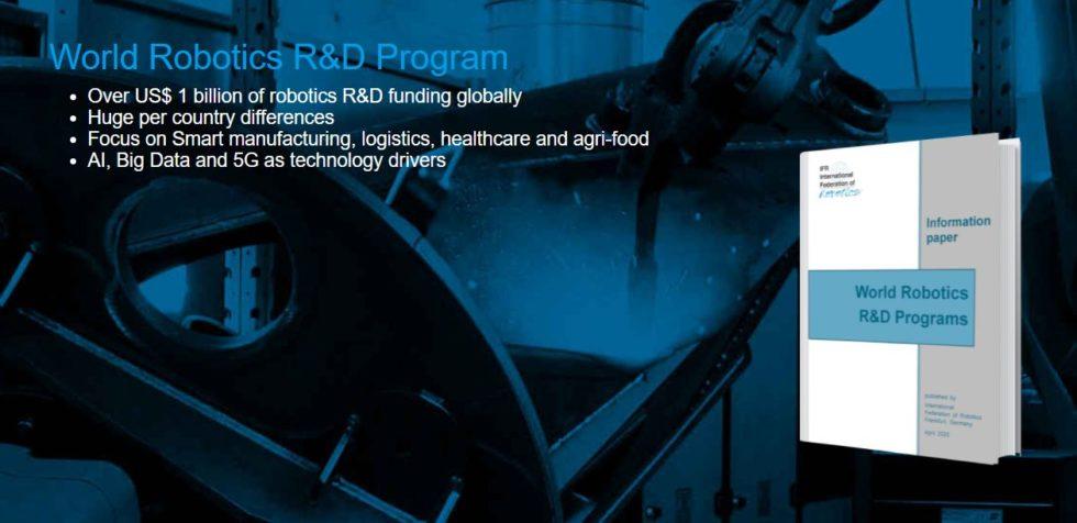 "IFR - International Federation of Robotics hat den ""World Robotics R&D Programs"" veröffentlicht. Foto: IFR"