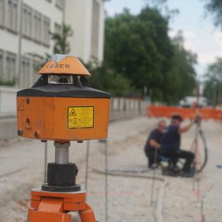 Überwachung per Lasermesstechnik.