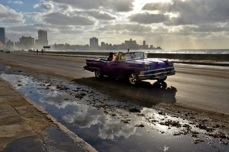 Das Bild vom Malecon in Havanna ohne Vignette. Foto: Peter Sieben