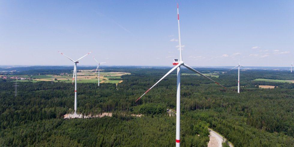 Windpark der EnBW in Bühlertann, Landkreis Schwäbisch Hall. Foto: EnBW