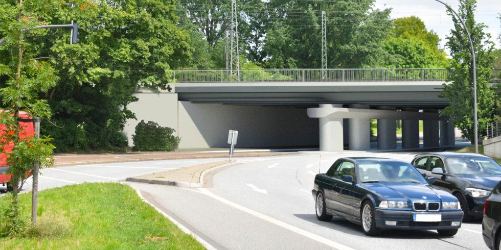"""Modernisierte Eisenbahnüberführung """"An der Alster"""" in Hamburg. Foto: DB Netz AG Schüßler-Plan Ingenieurgesellschaft mbH"""