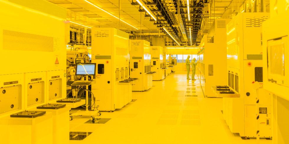 Reinraum in Chipfabrik