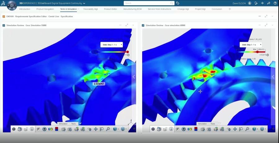 Durch frühzeitige Simulation können Schwachstellen erkannt eliminiert und durch neue Lösungen ersetzet werden bevor hohe Kosten und Zeitaufwände entstehen. Foto: Dassault Systemes