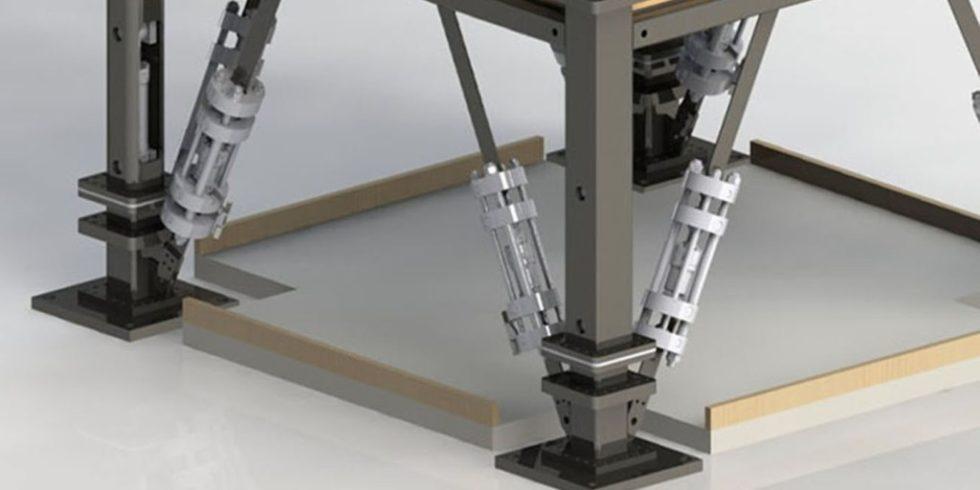 Mit den aktiven, adaptiven Tragwerkselementen kann das Lastabtragsverhalten in einem Tragwerk manipuliert werden. Foto: ISYS + IKTD, Uni Stuttgart