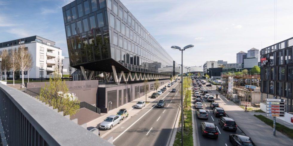 Landmarke in Essen: Die Unternehmensgruppe Funke Medien verlegt zwölf regionale Tageszeitungen, rund 40Publikums- und Fachzeitschriften sowie mehr als 100Anzeigenblätter. Foto: AEG Haustechnik