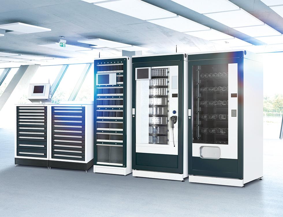 Der HK-MAT verwaltet rund um die Uhr eingelagerte Werkzeuge und Messmittel, kontrolliert anstehende Kalibrierdaten gibt Leihmittel aus und bestellt eigenständig nach. Foto: HAHN+KOLB Werkzeuge GmbH