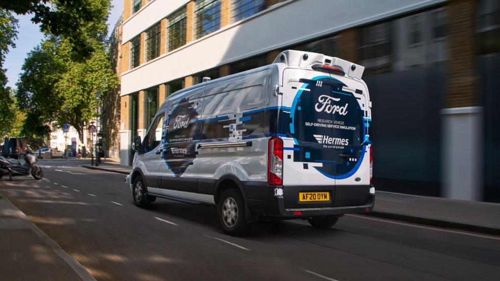 autonom fahrendes Zustellfahrzeug von Ford