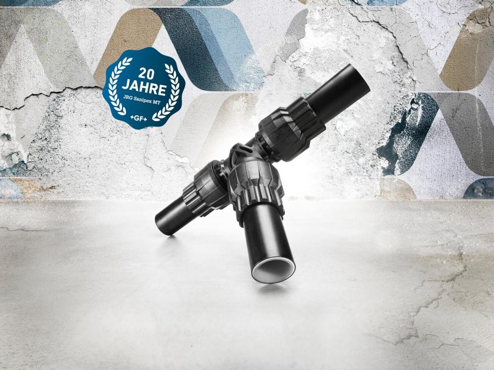 JRG Sanipex MT ist seit 20 Jahren das totraumfreie, ganzheitliche System für hygienisch optimale Rohrverbindungen. Foto: GF Piping Systems