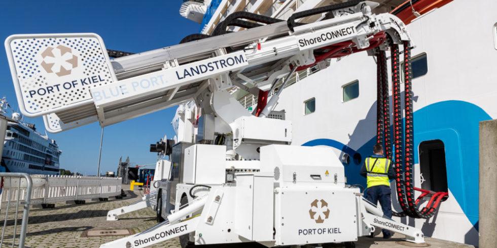 Landstromanlage Siemens Seehafen Kiel