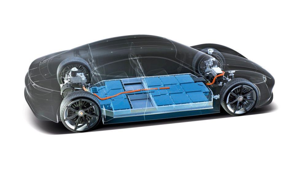 Porsche Innenansicht Batteriezelle