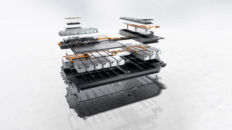 Die Batterie des Taycan Turbo S