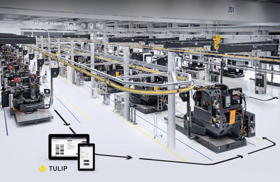 Inside-Out: DMG MORI nutzt TULIP auch in den eigenen Produktionswerken, wie hier in der Excellence Factory bei DECKEL MAHO in Pfronten. Foto: DMG Mori