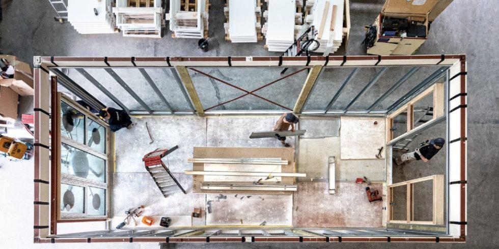 Der Modulbau eignet sich zum ressourcenschonenden Bauen, alle Materialien können wiederverwendet werden. Foto: Jan Snel