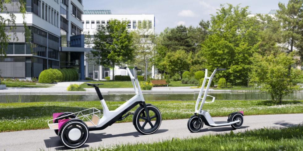 Neues Lastend und E-Scooter von BMW