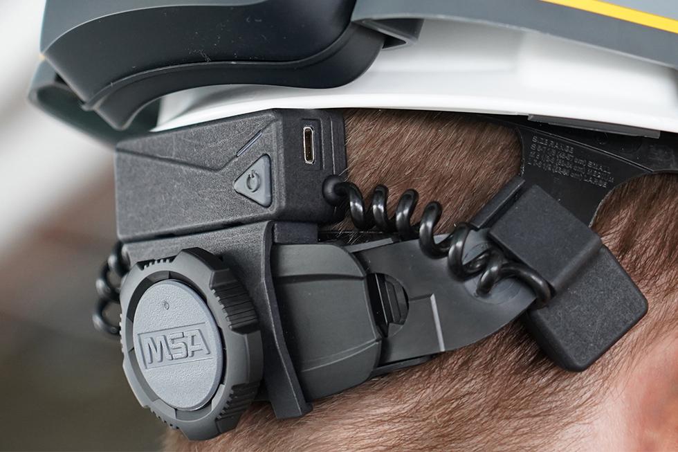 Mobilus Labs: Knochenleitendes Audiosystem. Foto: Trimble Inc.