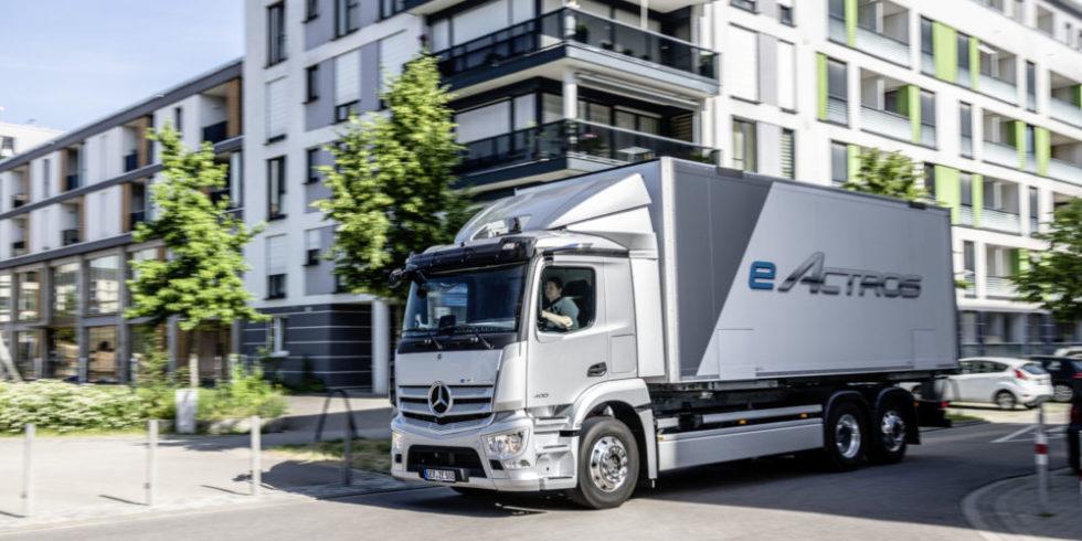 erster vollelektrischer Lkw von Mercedes-Benz