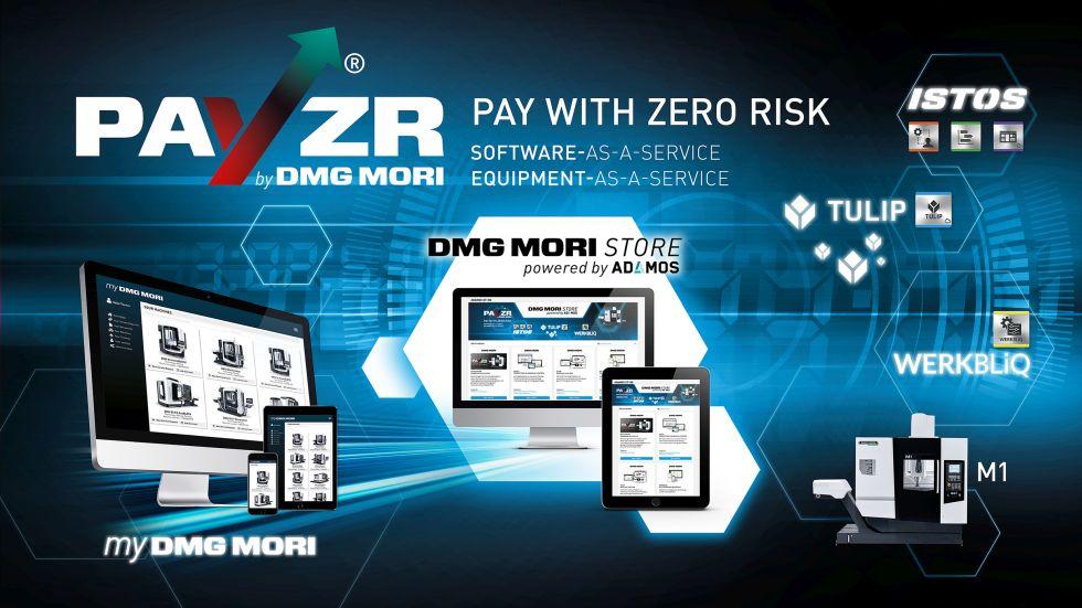 Mit dem PAYZR Geschäftsmodell startet DMG MORI in die Subscription Economy von Abonnement und Pay-per-Use. Equipment-as-a-Service und Software-as-a-Service Angebote. Foto: DMG Mori