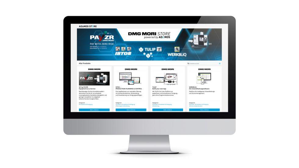 """Der Zugang zu PAYZR ist einfach und über mehrere, digitale Kanäle möglich, wie die DMG MORI-Website oder das Kundenportal """"my DMG MORI"""", wo es per Single-sign-On direkt zum neuen """"DMG MORI Store powered by ADAMOS"""" geht. Foto: DMG MORI"""