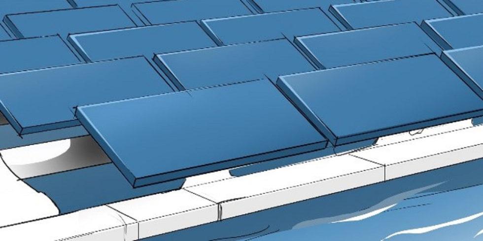Illustration schwimmende Solarmodule