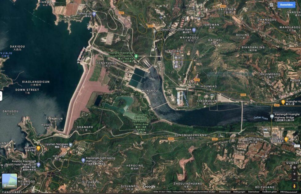 Screenshot Google Maps Henan