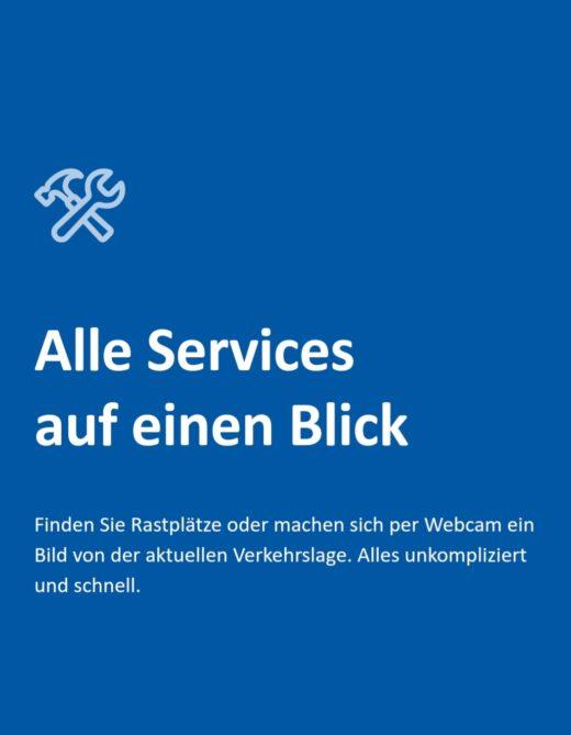 Screenshot Services Autobahn-App